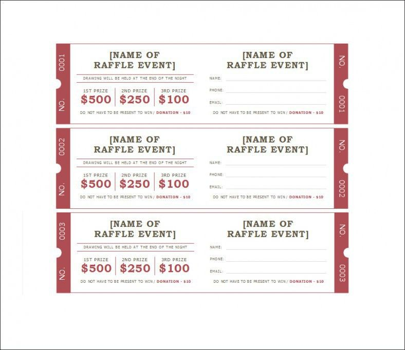 Fundraising Ticket Template - Contegri.com
