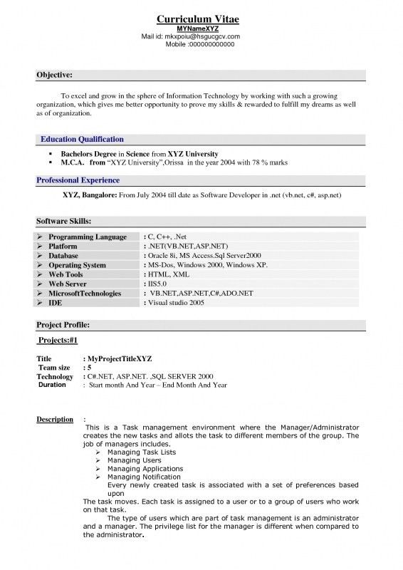 Resume Example Engineer. Quality Assurance Cv, Test Engineer Cv ...