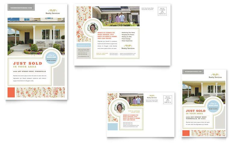 Real Estate Home for Sale Postcard Template - Word & Publisher