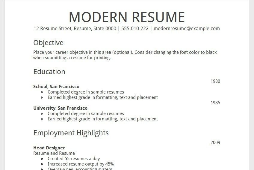 Download Google Doc Resume Template | haadyaooverbayresort.com