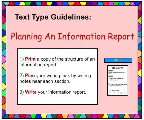 Report Writing Poster, English skills online, interactive activity ...