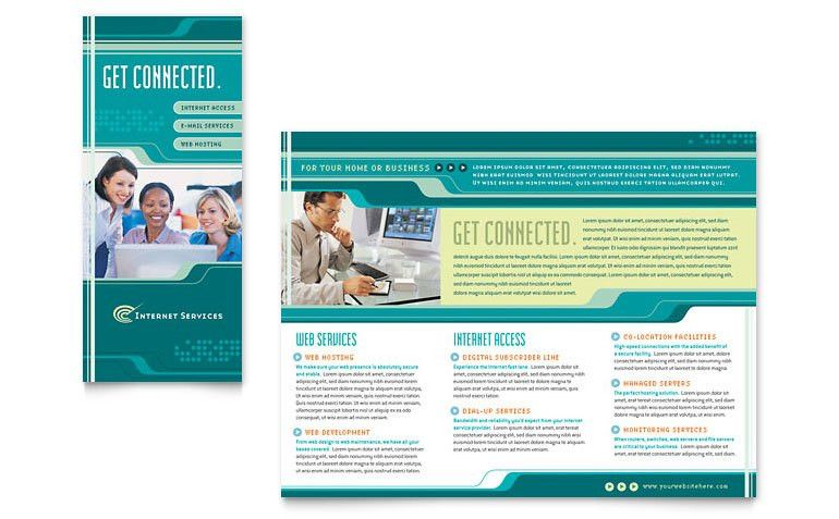 Internet Service Provider Brochure Template - Word & Publisher