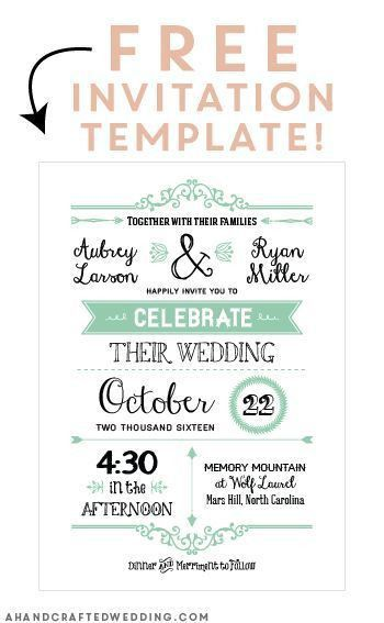 Free PDF wedding templates with easy to edit textboxes ...