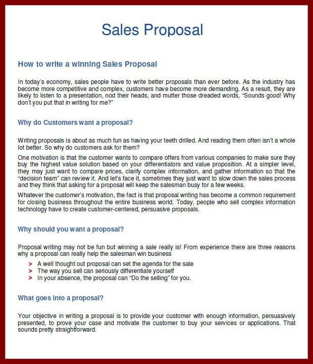 12 Sales Proposal Template Pdf | sendletters.info