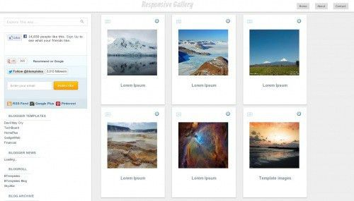 Responsive Gallery Blogger template - BTemplates