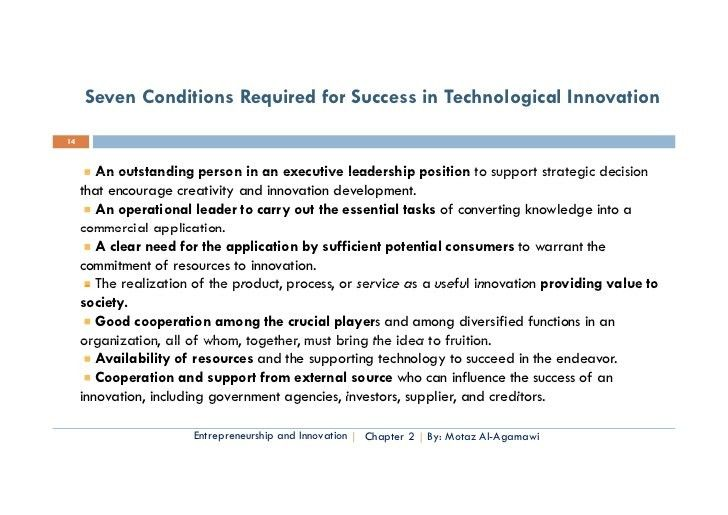 Essential of Technology Entrep. & Innovation- Chapter two entreprene…