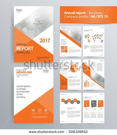 Page Layout Company Profile Annual Report Stock Vector 503919916 ...