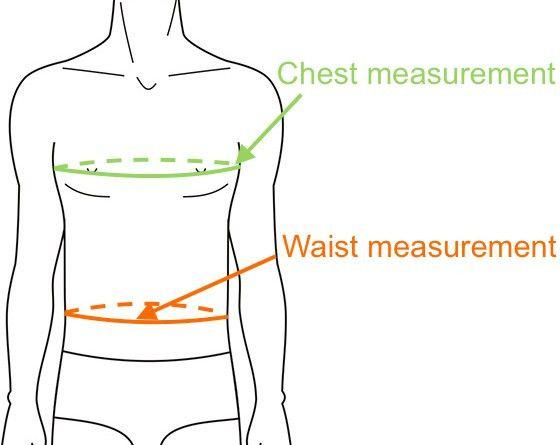 Men's Japanese Jacket Size Chart