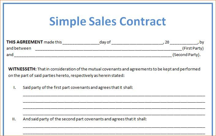 4+ sales contract sampleReport Template Document | report template