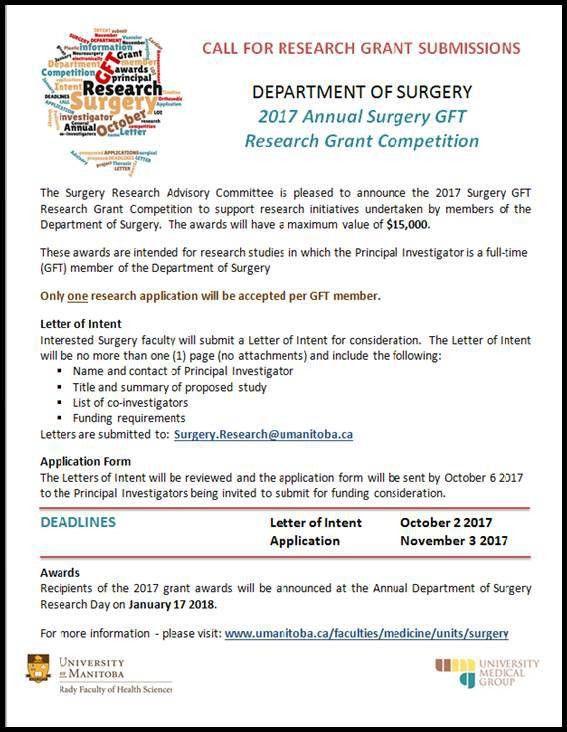 University of Manitoba - Faculty of Medicine - Surgery - Surgery ...