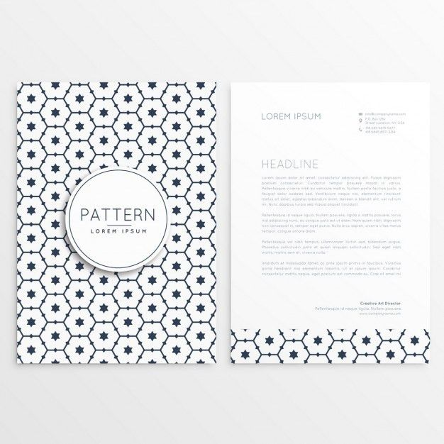 Business letterhead template with cute shapes Vector | Free Download