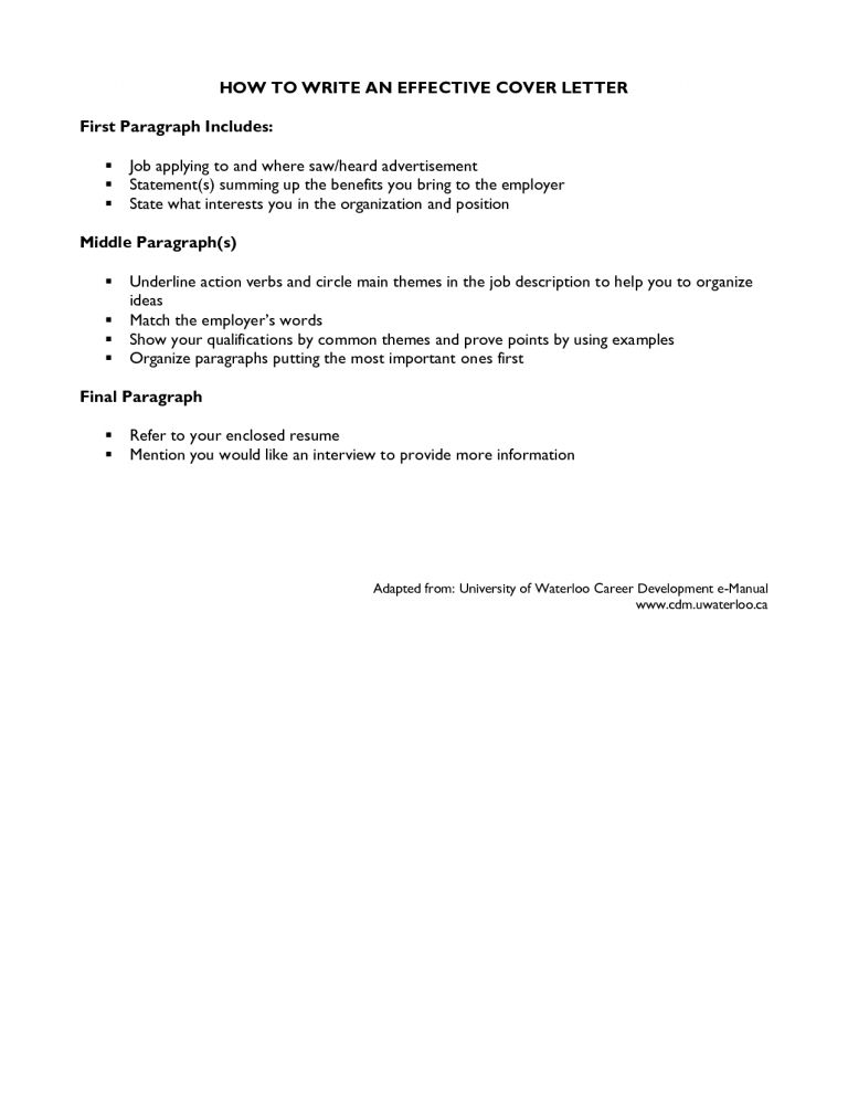 Awesome To Do Writing An Effective Cover Letter 10 How To Write ...
