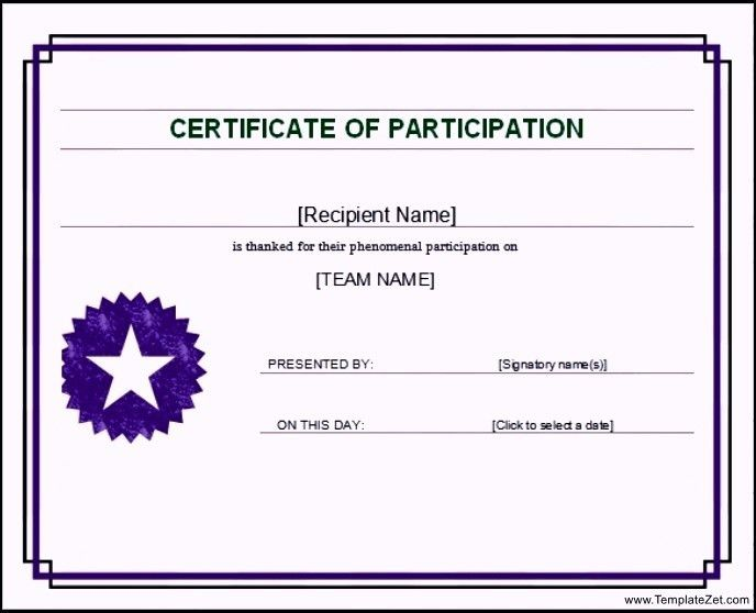 Group Certificate Template