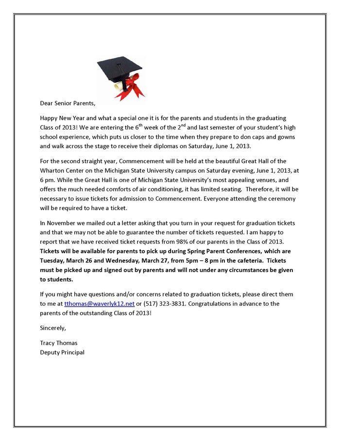 Graduation Ticket Information - Waverly High School