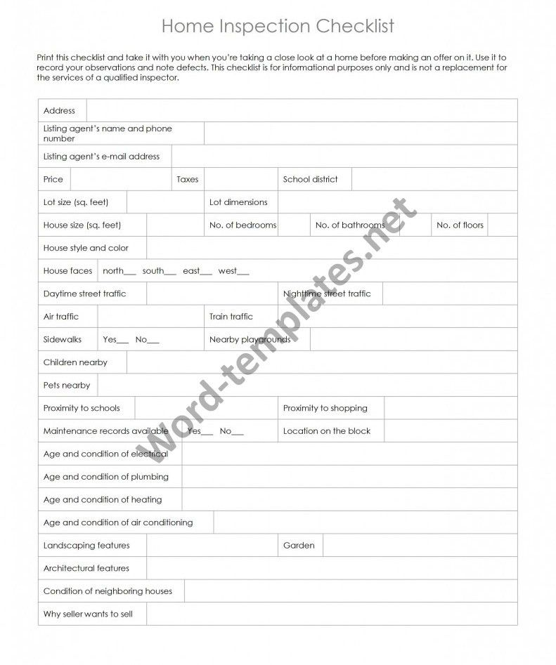 Checklist Templates Archives - Free MS Word Templates