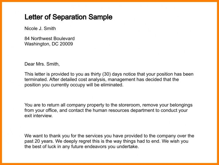 6+ employment separation certificate to the employee | cashier resumes