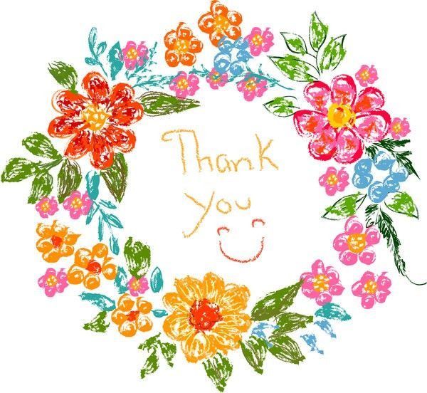 Floral Thank you card Free vector in Adobe Illustrator ai ( .AI ...
