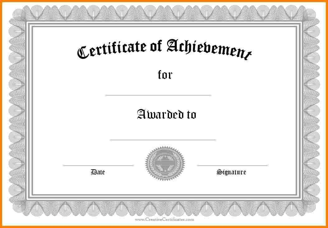 10+ free printable certificate of achievement | sample of invoice
