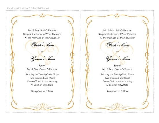 Wedding Invitations Templates, Word Templates, Free Office ...