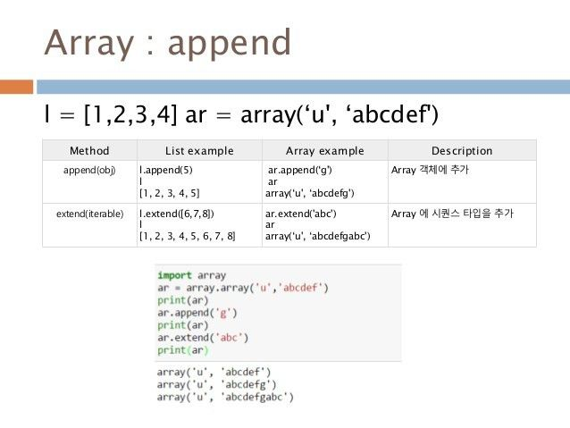 Python array.array 모듈 이해하기