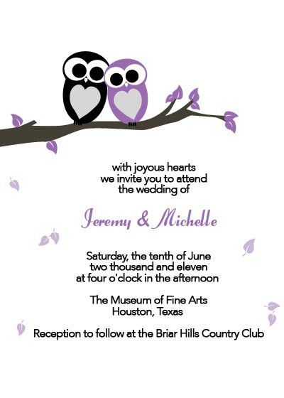 Love Owls Printable Wedding Invitation ← Wedding Invitation ...