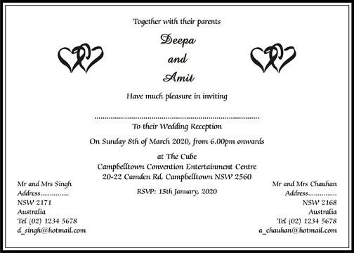 Marriage Invitation Letter Format In Hindi ~ Matik for .