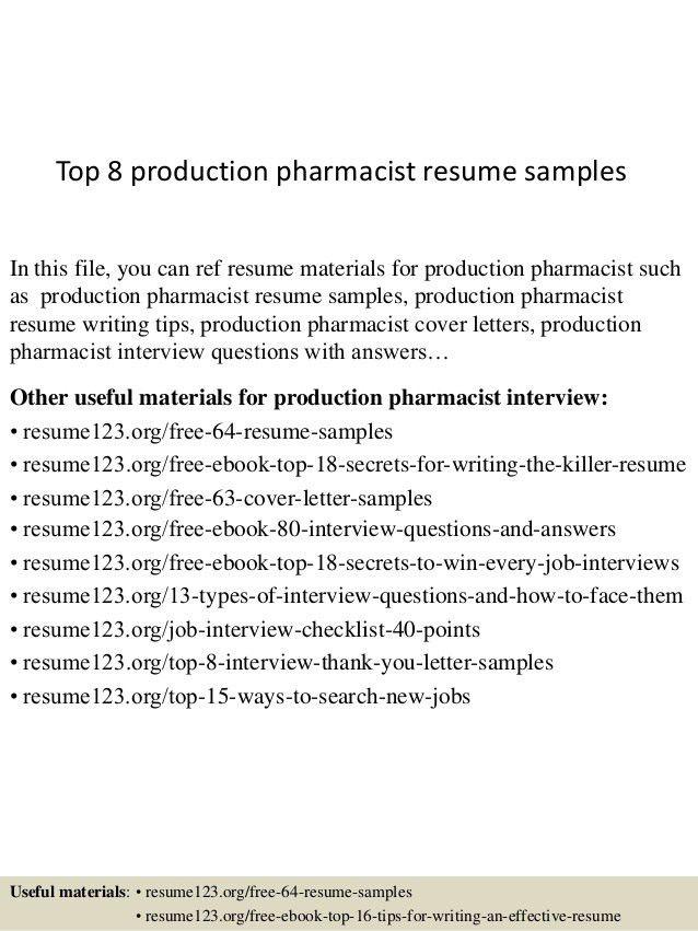 Sample Resume Pharmacist Pharmacist Resume Sample Writing Tips - cardinal health pharmacist sample resume