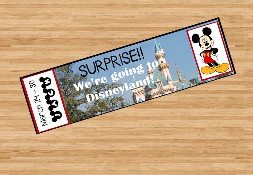 Printable Ticket to Disneyland Disney World with Custom Name