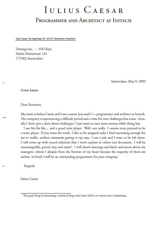 Setting Out A Cover Letter - Best Letter Examples