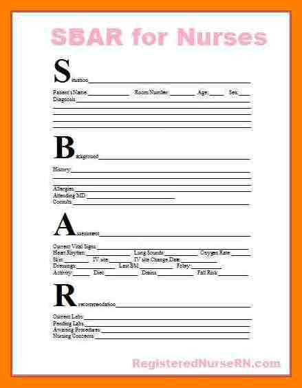 9+ nursing sbar form | protect letters