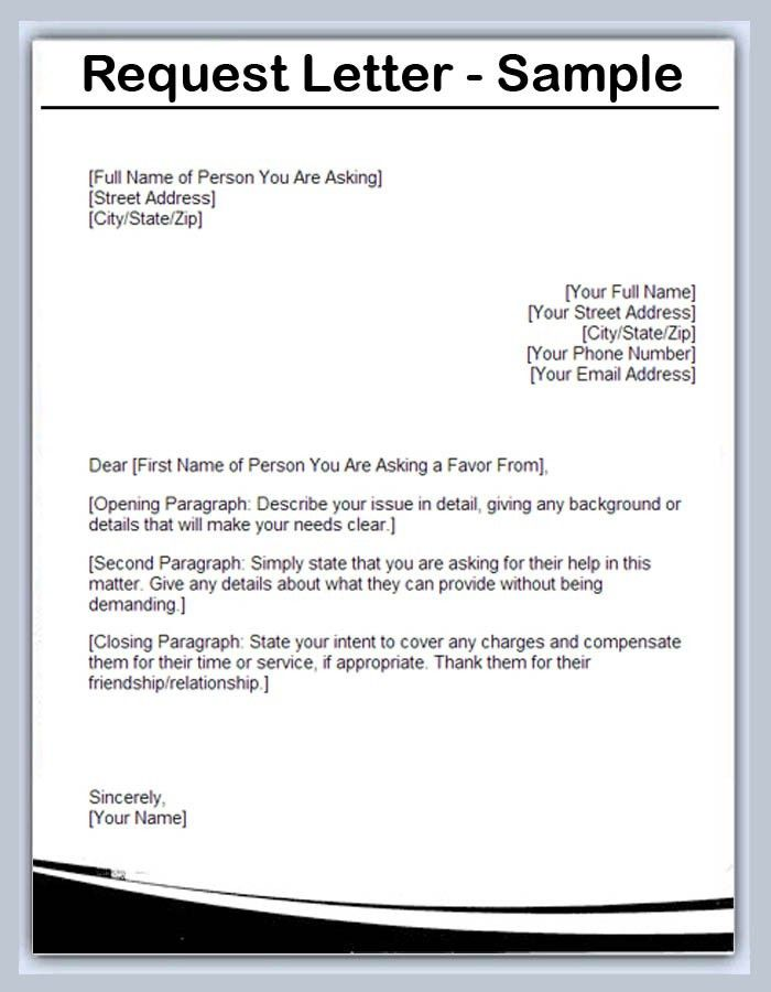 Sample Request Letters - Writing Professional Letters
