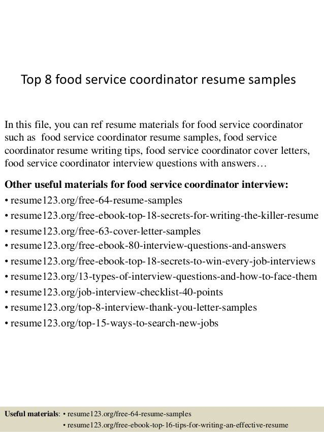 sample resume for food service food service waitress amp waiter ...