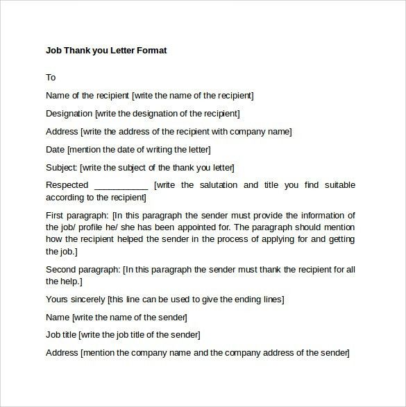 Sample Thank You Letter Format - 9+ Free Documents In PDF, Word