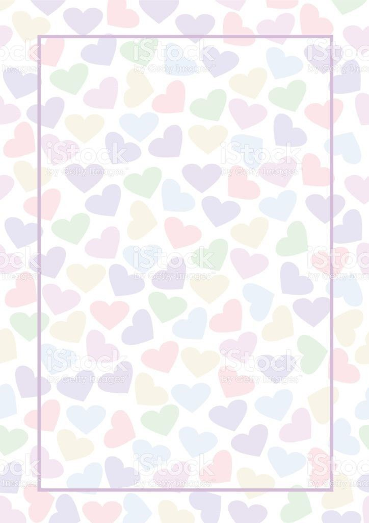 Vector Blank For Letter Or Greeting Card Colorful Form With Hearts ...