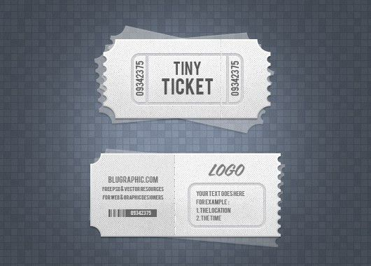 Cool Mock Up Design of Admission Ticket Template with White Color ...