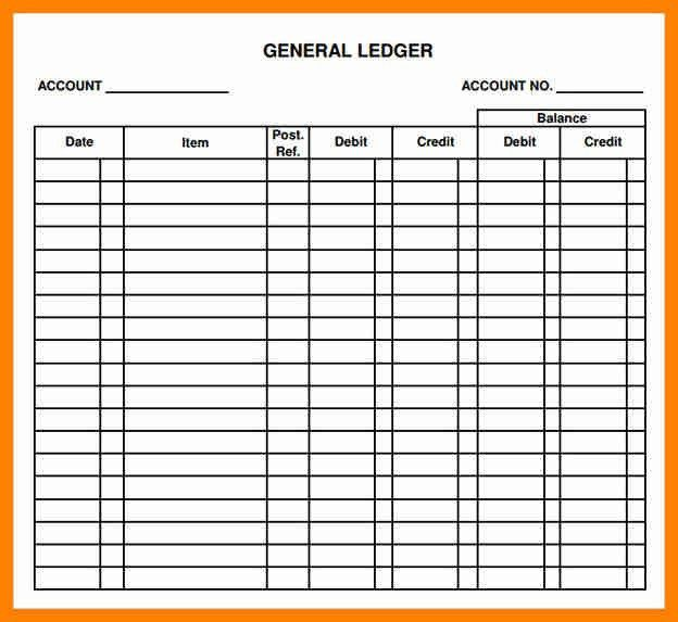 Printable Ledger Pages | Samples.csat.co