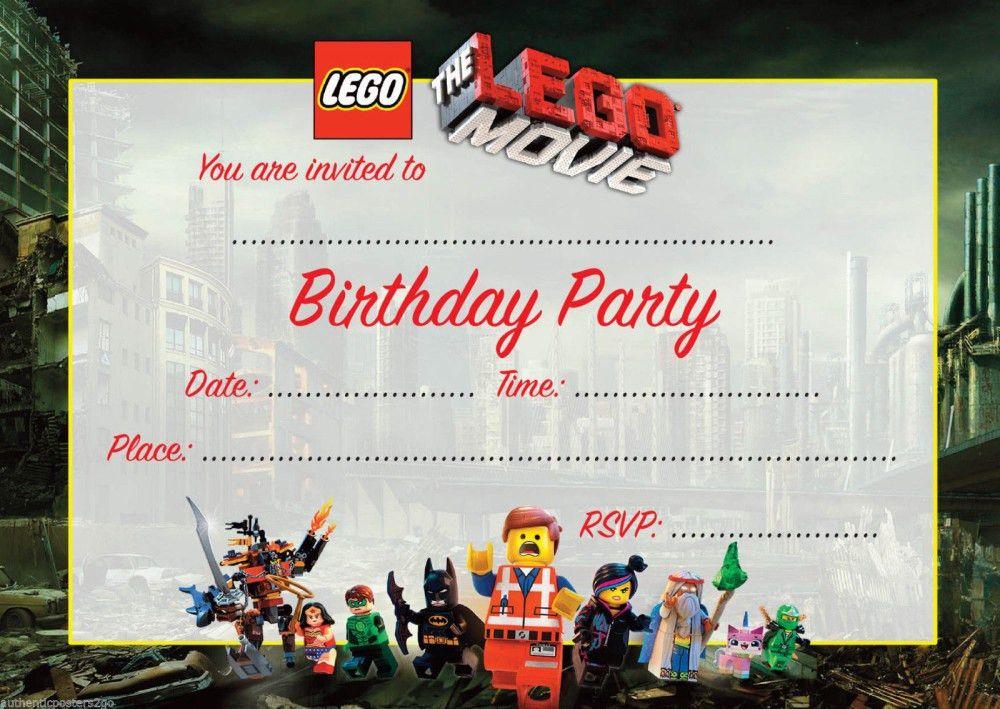 Lego Movie Birthday Invitation template | Invitations Online