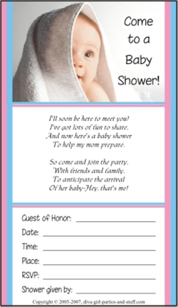 Baby Shower Invitation Example - Baby Shower DIY