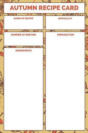 Recipe Card Templates - Canva