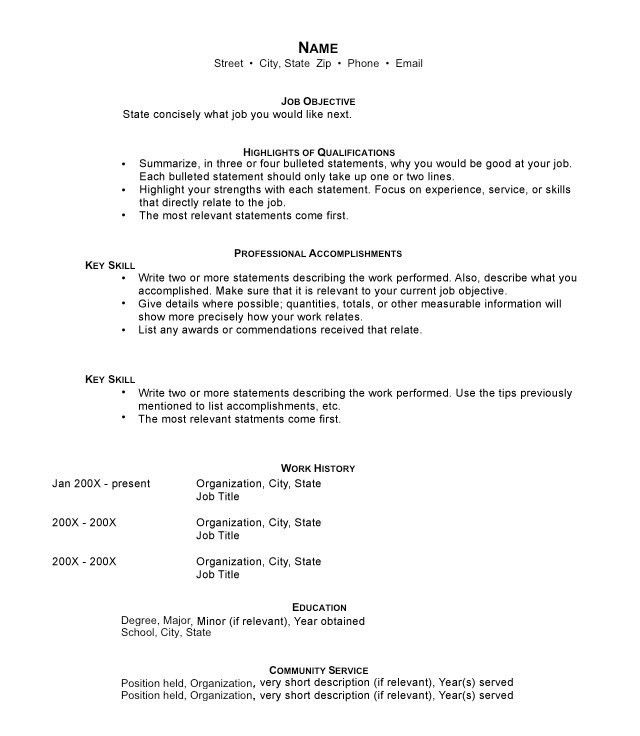 Bold Ideas Hybrid Resume Template 12 The Hybrid Resume Format ...