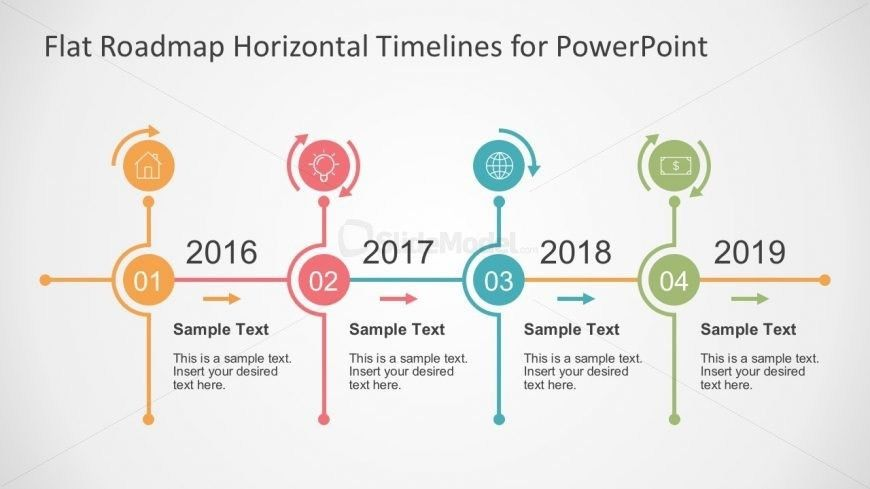 Flat Timeline Slide Presentation in PowerPoint - SlideModel
