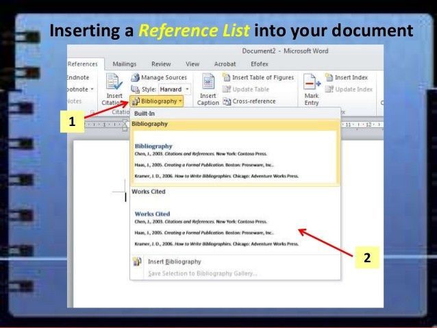 eResearch - Using word bibliography to create a reference list or bib…