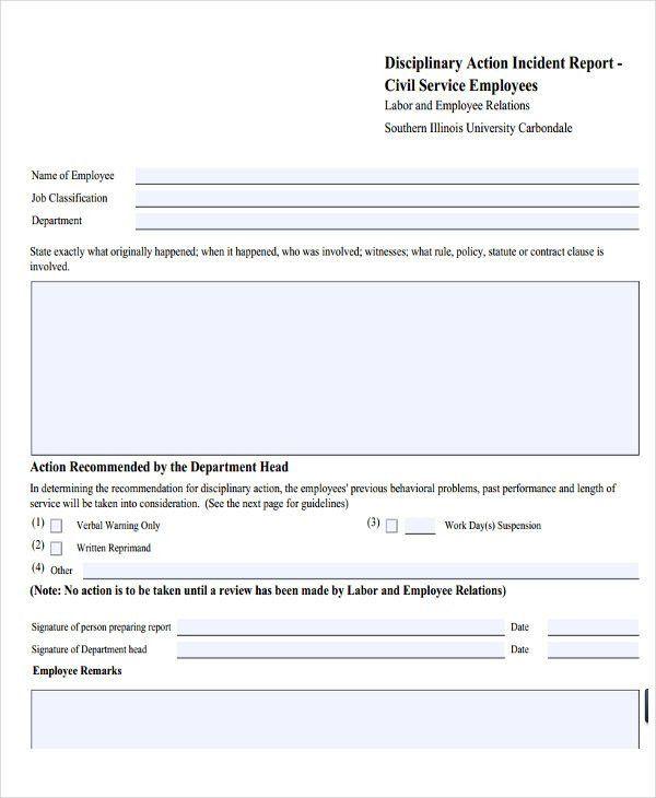 27+ Incident Report Template in PDF | Free & Premium Templates