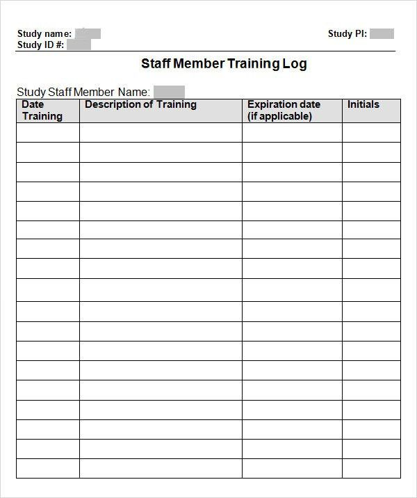 Training Log Template   8+ Download Free Documents In PDF, Doc