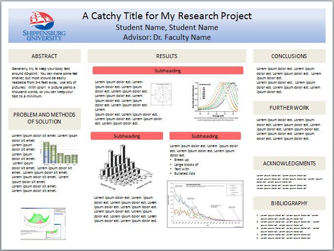 apa poster presentation template free powerpoint scientific ...