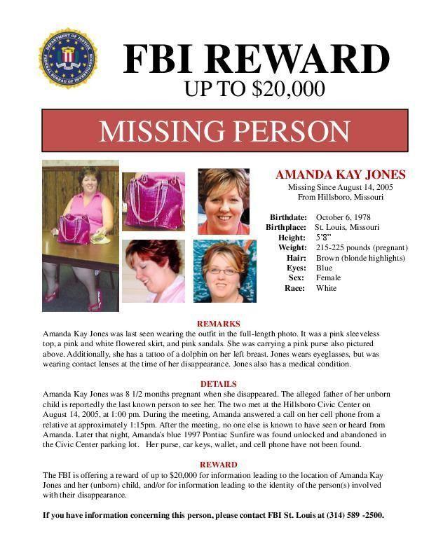 New Amanda Jones missing person flyer | | stltoday.com