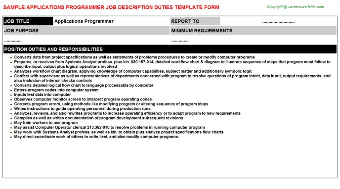 Applications Programmer Job Title Docs