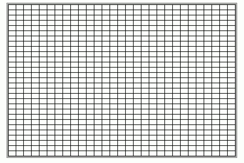 Printable Graph Paper Template Microsoft Word, Large Square Boxes