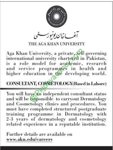 Consultant | Cosmetology | Jobs In The Aga Khan University AKU ...