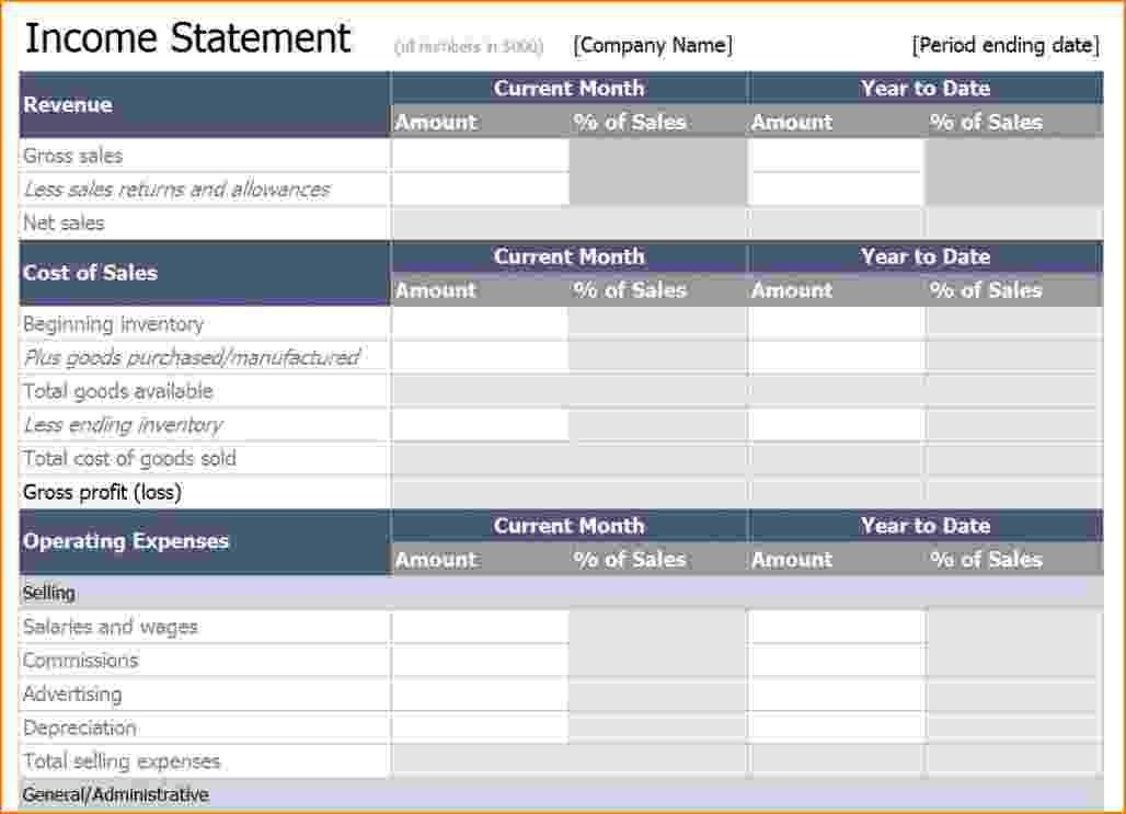 8+ income statement excel template | bibliography format
